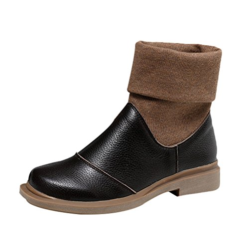 Mordenmiss Womens Retro Fall Winter Boots Style 1 Coffee xFHzGTtCkd