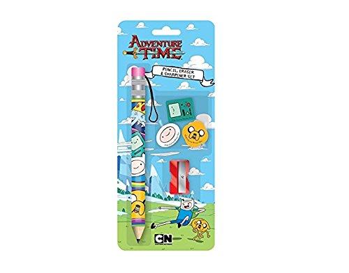 Anker Adventure Time Pencil and Eraser Set, Plastic, Multi-Colour ANKADPE