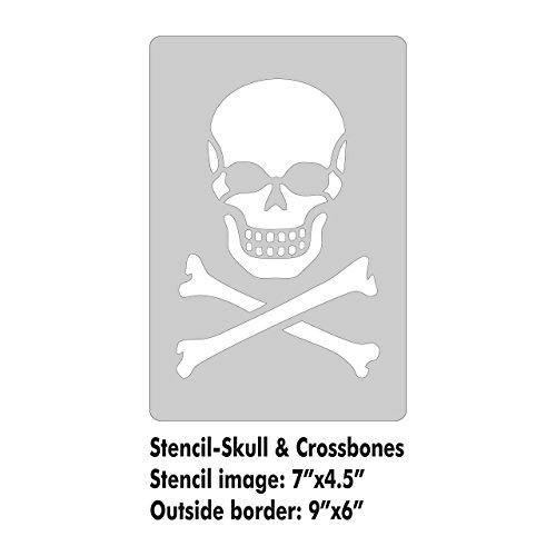 XL Stencil - Skull and Crossbones ()