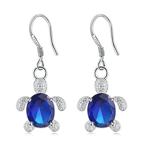 Zoylink Dangle Earrings for Women Zircon Pendant Earrings Fashion Sea Turtle Pattern Drop Earrings Jewelry (Turtle Charm Earrings)