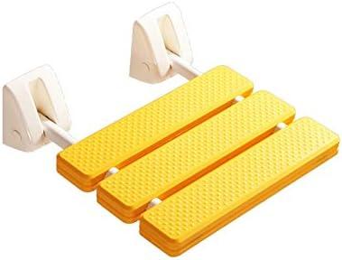 入浴用バススツールバスルームシャワーバスシート90°折り畳み式デザイン、簡単に保存スペースを掃除するバスシートバスルームフォールディングシート、高齢者障害者用シートシャワー (Color : 黄)
