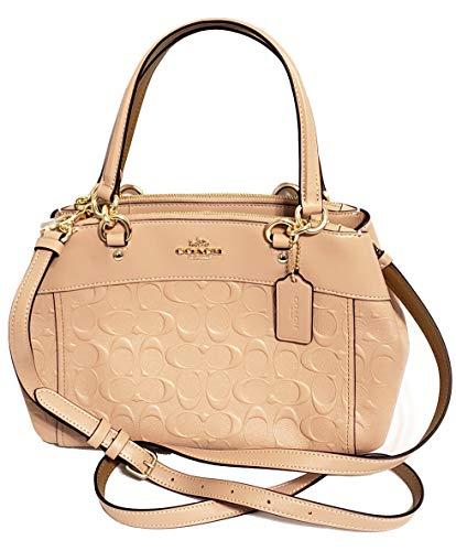 Coach Women's Mini Brooke Carryall Handbag No Size (IM/Nude Pink) (Coach Handbags Embossed)