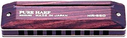 Suzuki SU-MR-550-E Pure Harp Harmonica diatonique en Mi surface bois 10 trous, 20 lames