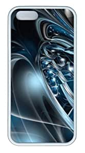 3D abstract hd Custom iPhone 5s/5 Case Cover ¡§C TPU ¡§C White