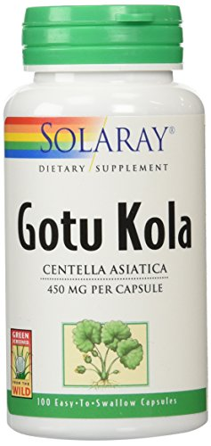 Solaray Gotu Kola Capsules, 450 mg, 100 Count