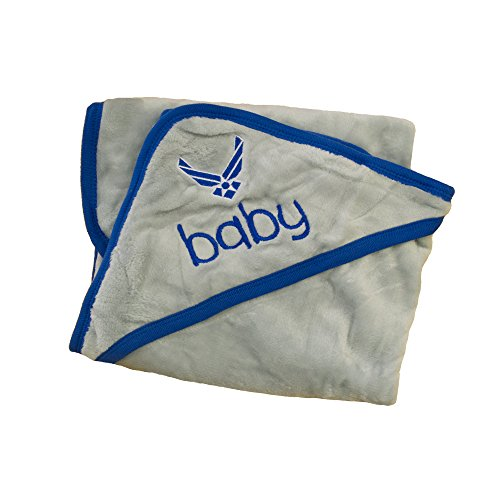 United States Air Force Insignia Gray Baby Blanket Soft Fleece U.S.A.F. ()