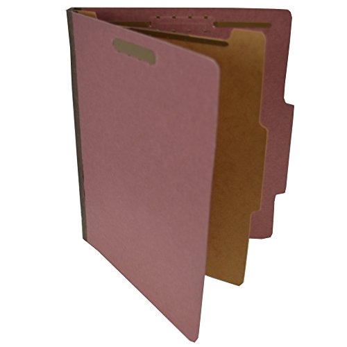 (Pressboard Classification Partition Folder, 1 Dividers, 1-1/2-Inch Expansion, 2/5 Cut Tab, Brick Red, Letter Size, Box of 20)