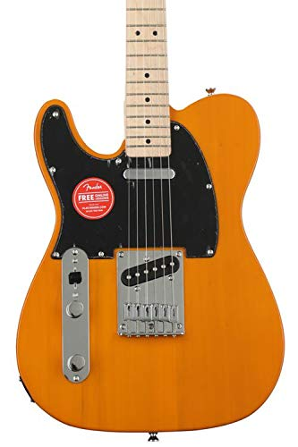 Squier Affinity Series Telecaster, Left-Handed - Butterscotch Blonde w/Maple Fingerboa