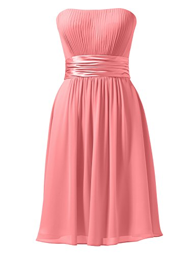 Pink Short Cocktail Alicepub Bridesmaid Dress Gown Line A Coral Party Bridal Dress Homecoming 7gS4Rcg
