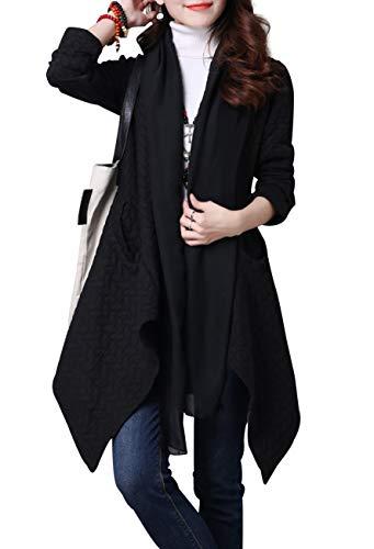 Jacket Felpa Ragazza Elegante Aperto Parka Giacca Davanti Simple wXq6FCx7x