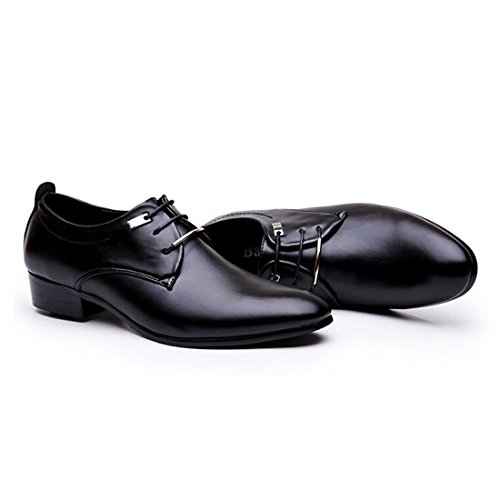 JINGJING Men's Pointed Toe Lace up Formal Oxfords Business Casual Wedding Dress Shoes by JINGJING (Image #4)