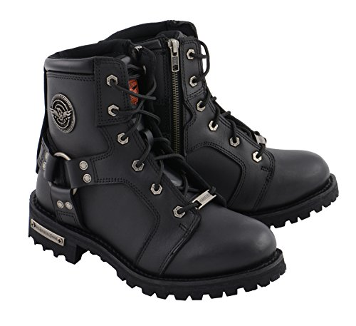 Milwaukee Leather Women's Lace to Toe Harness Boot Black 9