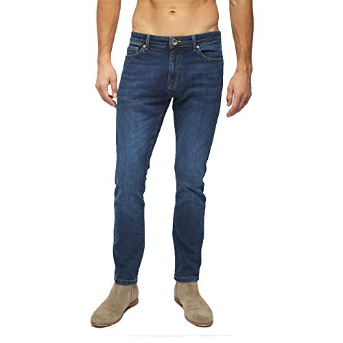 Heels & Jeans Stretch Slim Fit Comfy Skinny fit Jeans for Men, Straight Denim Pants (Indigo, 30)
