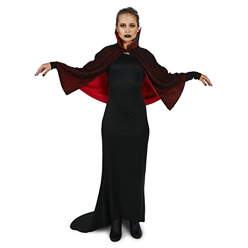 [Sultry Vampire Dress with Capelet Adult Costume XL] (Dracula Costumes For Women)