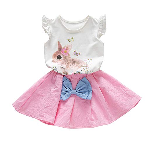 Used, Toddler Kids Baby Girls Easter Outfits Rabbit Vest for sale  Delivered anywhere in USA