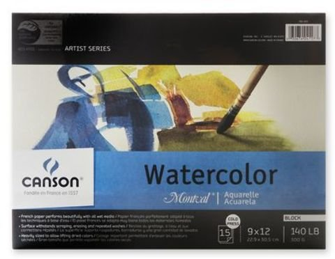 Brand New Canson Montval Watercolor Paper (Block of 15) Brand New