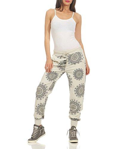 Relax Cotone Beige Felpa Jogging 44 Pantalone Di Pant Mandala Zarmexx Pantaloni Fit Da Unica 40 Sportivi Tempo Signore Libero taglia Stampa wgXqPnR0