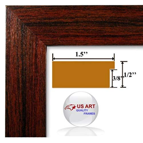 US Art 24x36 Elegant Custom 1.5 inch Cherry Maroon Wall Decor Picture Poster Photo Frame Wood Composite MDF ()