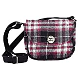 Carly Mini Saddle Cotton Crossbody Messenger Bag with Zip Pockets and Strap 6.75 x 6 x 2.5 Inches