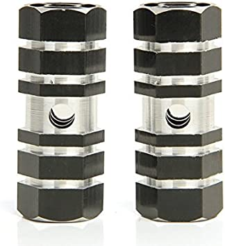 2pcs hueca de ciclismo BMX bicicleta Cilindro Aleaci/ón de aluminio 3//8/eje Foot Pegs