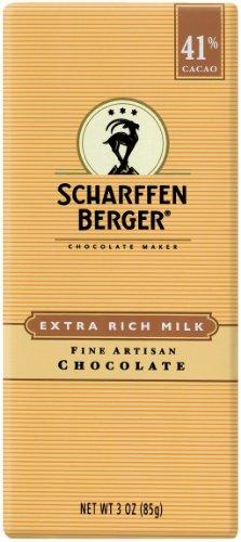 SCHARFFEN BERGER 41% Milk Chocolate Bar (3-Ounce Bars, Pack of 6)