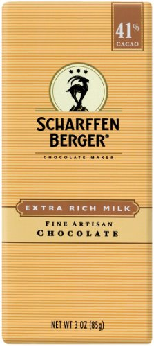 SCHARFFEN BERGER 41% Milk Chocolate Bar (3-Ounce Bars, Pack of 6)