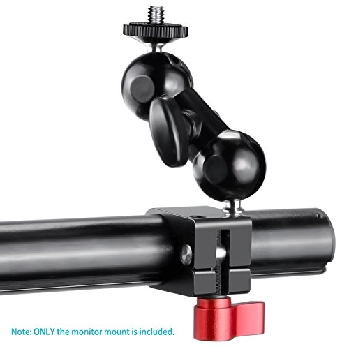 Neewer Field Monitor Mount with 1/4-inch Screw and 360-Degree Rotatable for DJI Ronin-M Handheld Gimbal, Fit All Rods with Diameter 24.9mm-25.5mm