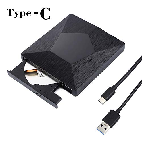 External CD Drive, Proslife USB 3.0 DVD Player, High Speed Data Transfer for Laptop/Desktop/XP/Vista/Win7/8/10/Mac, OS