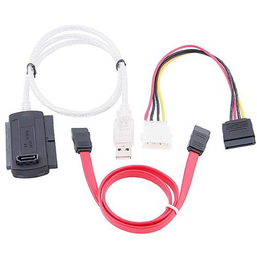SATA/PATA/IDE Drive to USB 2.0 Adapter Converter Cable for 2.5 / 3.5 Inch Hard Drive / 5 inch (Usb Ide Cable)