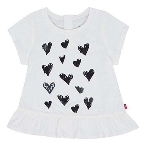 Levi's Baby Girls' Graphic T-Shirt, Cloud Dancer, 3/6M