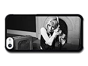 MMZ DIY PHONE CASECourtney Love Black and White Portrait Holding Guitar case for ipod touch 5