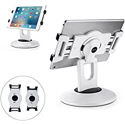 """AboveTEK Retail POS Tablet Stand, 360° Swivel Business iPad Stand, 6-13.5"""" iPad Pro/Air/Mini Commercial Tablet Mount Holder, Rotating Design for Store Kiosk Office Showcase Reception Kitchen Desktop"""