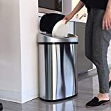 iTouchless 13 Gallon Oval Sensor Touchless Trash