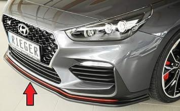 Rieger Frontal Alerón Espada Negro Mate para Hyundai i30 N/i30 N de Performance (PDE): 07.17 de: Amazon.es: Coche y moto