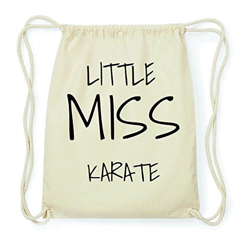 JOllify KARATE Hipster Turnbeutel Tasche Rucksack aus Baumwolle - Farbe: natur Design: Little Miss