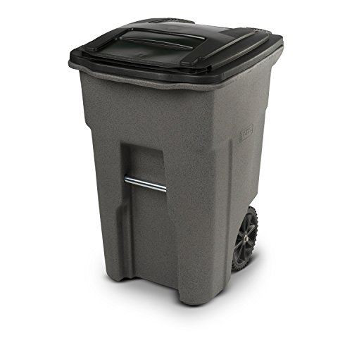 Toter 25548-R1129 Residential Heavy Duty Two Wheeled Trash Can, 48 gallon, (Large Wheeled Tote)