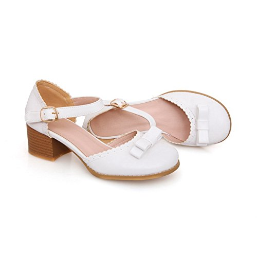 Blanc 5 AdeeSu Compensées Sandales Femme 36 Blanc HH4pOq