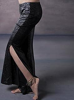 peiwen Ladies Fessura alla Danza del Ventre Pantaloni, l, Black