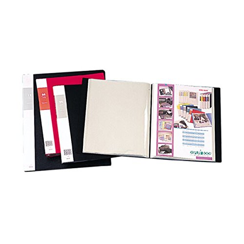 JAM Paper Display Book - 14'' x 17'' - Black - 24 pages per book - 12/pack