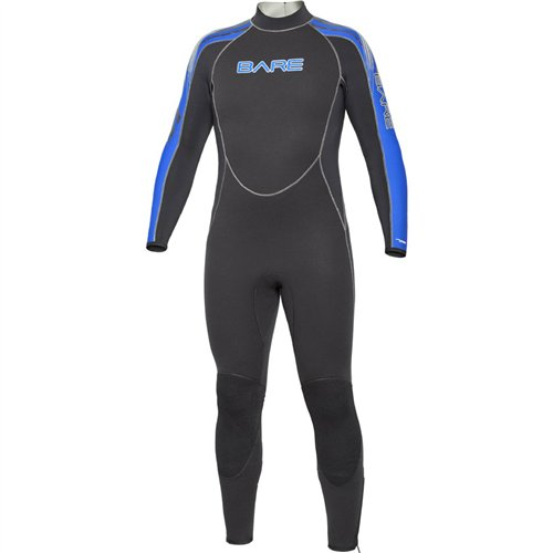 Bare 7mm Velocity Men's Full Suit, (Bare Dive Suits)