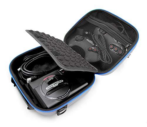 Casematix Travel Case Compatible with Sega Genesis Mini 2019 and Accessories , Includes Shoulder Strap (Sega Genesis Carrying Case)
