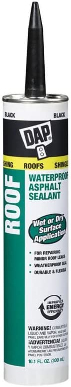 Amazon Com Dap 18268 6 Pack 10 1 Oz Roof Waterproof Asphalt Filler And Sealant Black Automotive