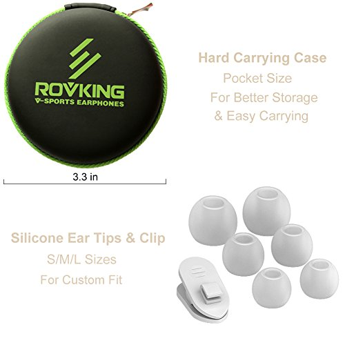 ROVKING Wired Earbuds with Microphone and Case