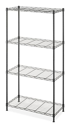 (Whitmor Supreme Shelving 4-Tier Black)