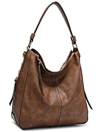 Vintage Hobo Handbags Shoulder Bags Durable Leather Tote Messenger Bags Bucket Bag for Women/Ladies