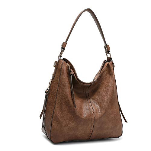 DDDH Vintage Hobo Handbags Shoulder Bags Durable Leather Tote Messenger Bags Bucket Bag For ()