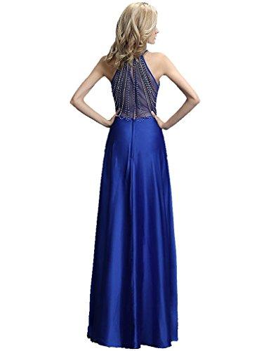 Beauty Königsblau Thought Korn Online halter Abendkleider Emily ärmel ein Zurück See lange PPwxCRr6