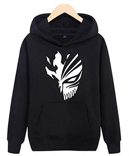 Ayazan Anime Bleach Luminous Pullover Hoodie Jacket Cosplay Kurosaki Ichigo Sweatshirt Costume (L, Black) ()