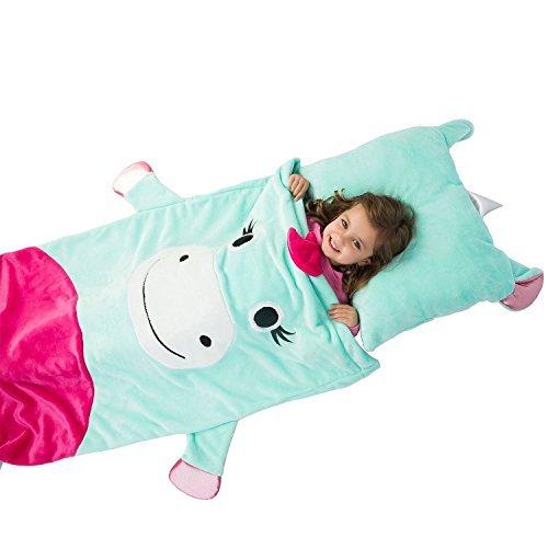 Kids plush sleeping bag with pillow (Unicorn)