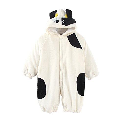 Mud Kingdom Baby Boy Milk Cow Costume Fleece Winter Rompers Cute 12-18M]()